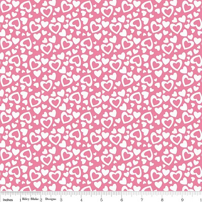Holiday Banners C561 Pink Hearts by Riley Blake