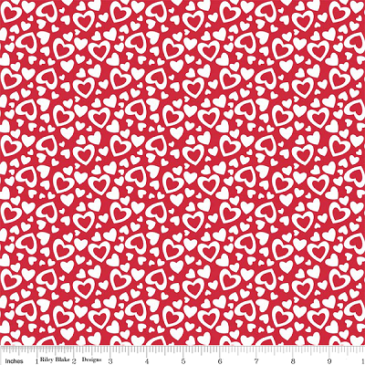 Holiday Banners C561 Red Hearts by Riley Blake