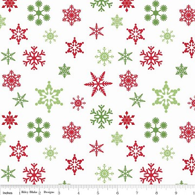Holiday Banners C566 White/Multi Snowflakes by Riley Blake
