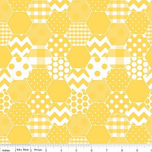 Hexi Print C770-50 Yellow by Riley Blake