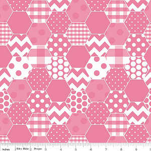 Hexi Print C770-70 Hot Pink by Riley Blake