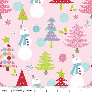 Christmas Basics C890-01 Pink Main by Riley Blake