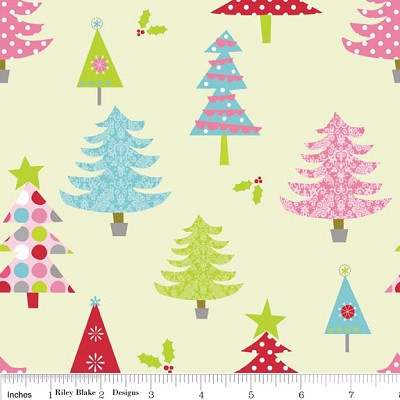 Christmas Basics C900-02 Lime Trees by Riley Blake