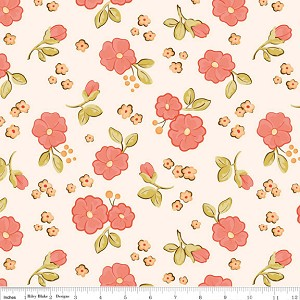Calliope C3202 Pink Small Floral by Stitch Studios for Riley Blake
