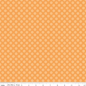 Calliope C3204 Orange Dot by Stitch Studios for Riley Blake