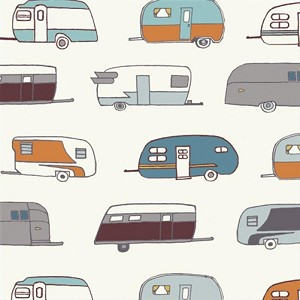 Camp Sur Organic CS-03 Camper Rally by Birch Fabrics