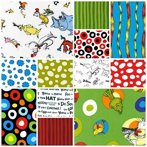 Celebrate Seuss 12 Fat Quarter Set by Dr. Seuss for Kaufman