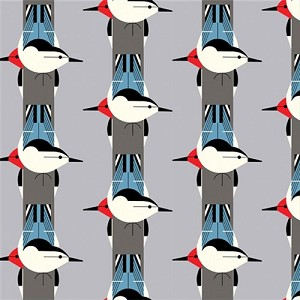 Charley Harper Organic CH-05 Upside Downside by Birch