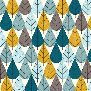 Charley Harper Organic CH-06 Blue Octoberama by Birch