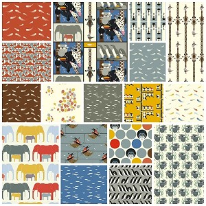 Charley Harper Nurture Organic 17 Fat Quarter Set by Birch