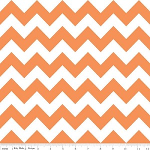 Chevron Medium C320-60 Orange by Riley Blake
