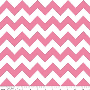 Chevron Medium C320-70 Hot Pink by Riley Blake