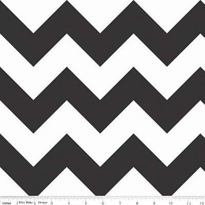Chevron Large C330-110 Black by Riley Blake