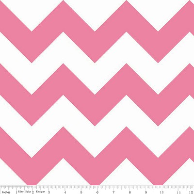 Chevron Large C330-70 Hot Pink by Riley Blake