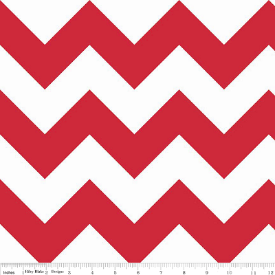 Chevron Large C330-80 Red by Riley Blake