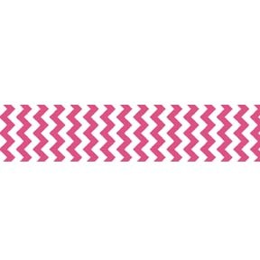 "Chevron Grosgrain Ribbon 7/8"" Hot Pink by Riley Blake"