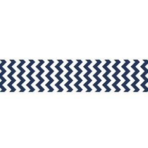 "Chevron Grosgrain Ribbon 7/8"" Navy by Riley Blake"