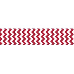 "Chevron Grosgrain Ribbon 7/8"" Red by Riley Blake"