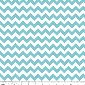 Chevron Small C340-20 Aqua by Riley Blake