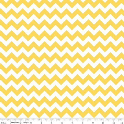 Chevron Small C340-50 Yellow by Riley Blake