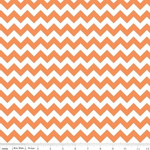 Chevron Small C340-60 Orange by Riley Blake