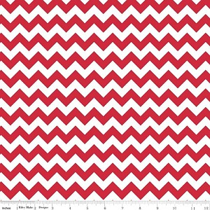 Chevron Small C340-80 Red by Riley Blake