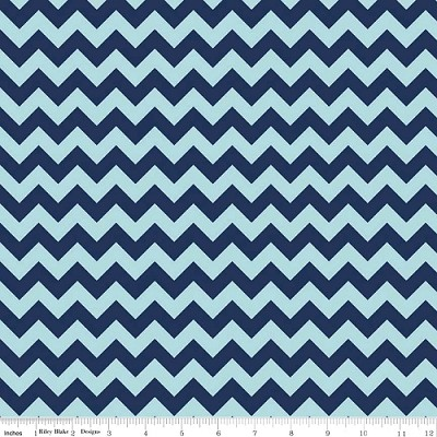 Chevron Small C400-23 Navy Tonal by Riley Blake