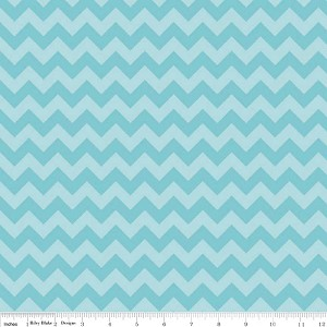 Chevron Small C400-24 Aqua Tonal by Riley Blake