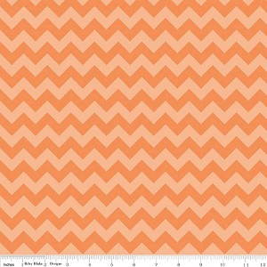 Chevron Small C400-61 Orange Tonal by Riley Blake