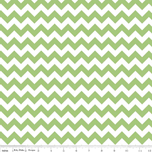 Chevron Small C340-30 Green by Riley Blake