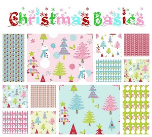 Christmas Basics 12 Fat Quarter Set by Riley Blake