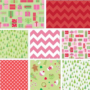 Christmas Candy 8 Fat Quarter Set by Riley Blake
