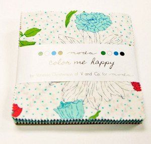 Color Me Happy Charm Pack by V & Co for Moda