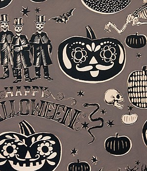 Crafty Calaveras 7954-BR Black by Alexander Henry