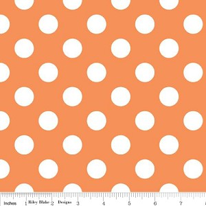 Dots Medium C360-60 Orange by Riley Blake