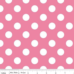 Dots Medium C360-70 Hot Pink by Riley Blake