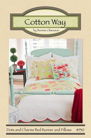 Dots and Charms Bed Runner and Pillows Pattern by Cotton Way