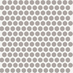 Mod Basics Organic MB-01 Shroom on Cream Dottie by Birch Fabrics