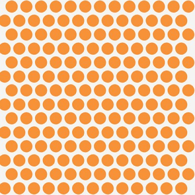 Mod Basics Organic MB-01 Orange on Cream Dottie by Birch Fabrics