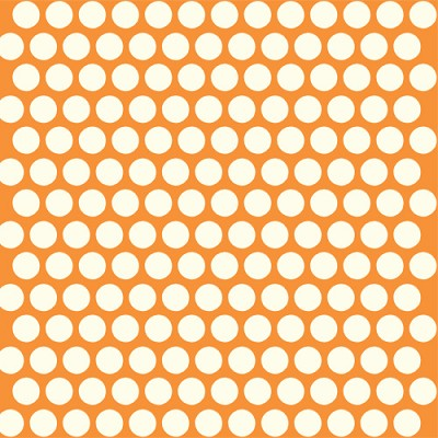 Mod Basics Organic MB-01 Cream on Orange Dottie by Birch Fabrics