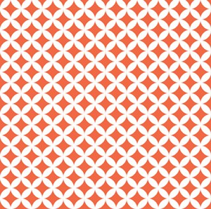 Down Under 4592-59 Orange Lattice by Mint Blossom for Northcott