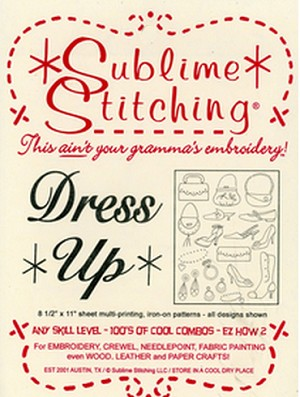 Dress Up Embroidery Pattern by Sublime Stitching
