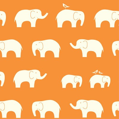 Mod Basics Organic MB-04 Orange Ellie Fam by Birch Fabrics