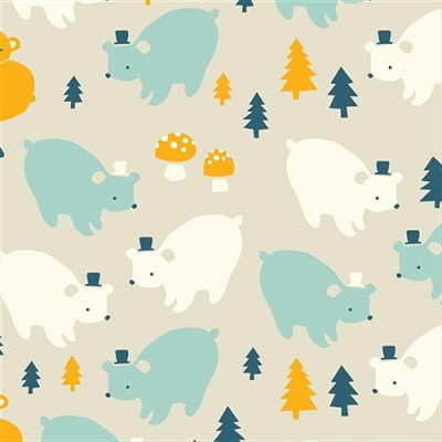 Everyday Party Organic EI-18 Bear Family by Birch
