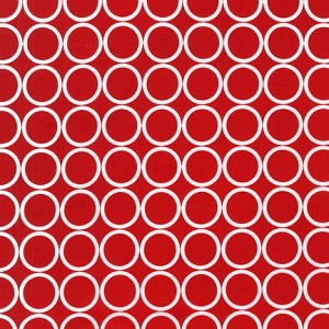 Metro Living 11016-3 Red Circles by R Kaufman