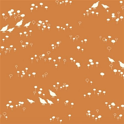 Feather River Organic FR-08 Quail and Poppy by Birch Fabrics