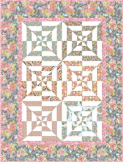 Prairie Park Quilt Kit by Josephine Kimberling for Blend
