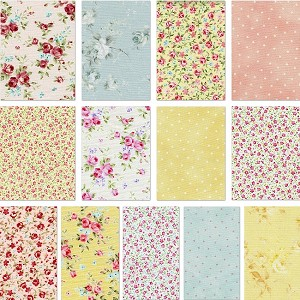 Floral Collection 13 Fat Quarter Set by Lecien