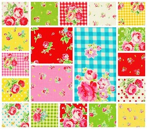 Flower Sugar 19 Fat Quarter Set by Lecien