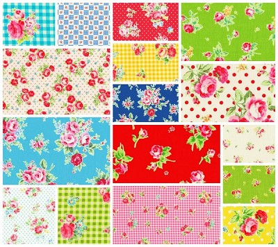 Flower Sugar 16 Fat Quarter Set by Lecien